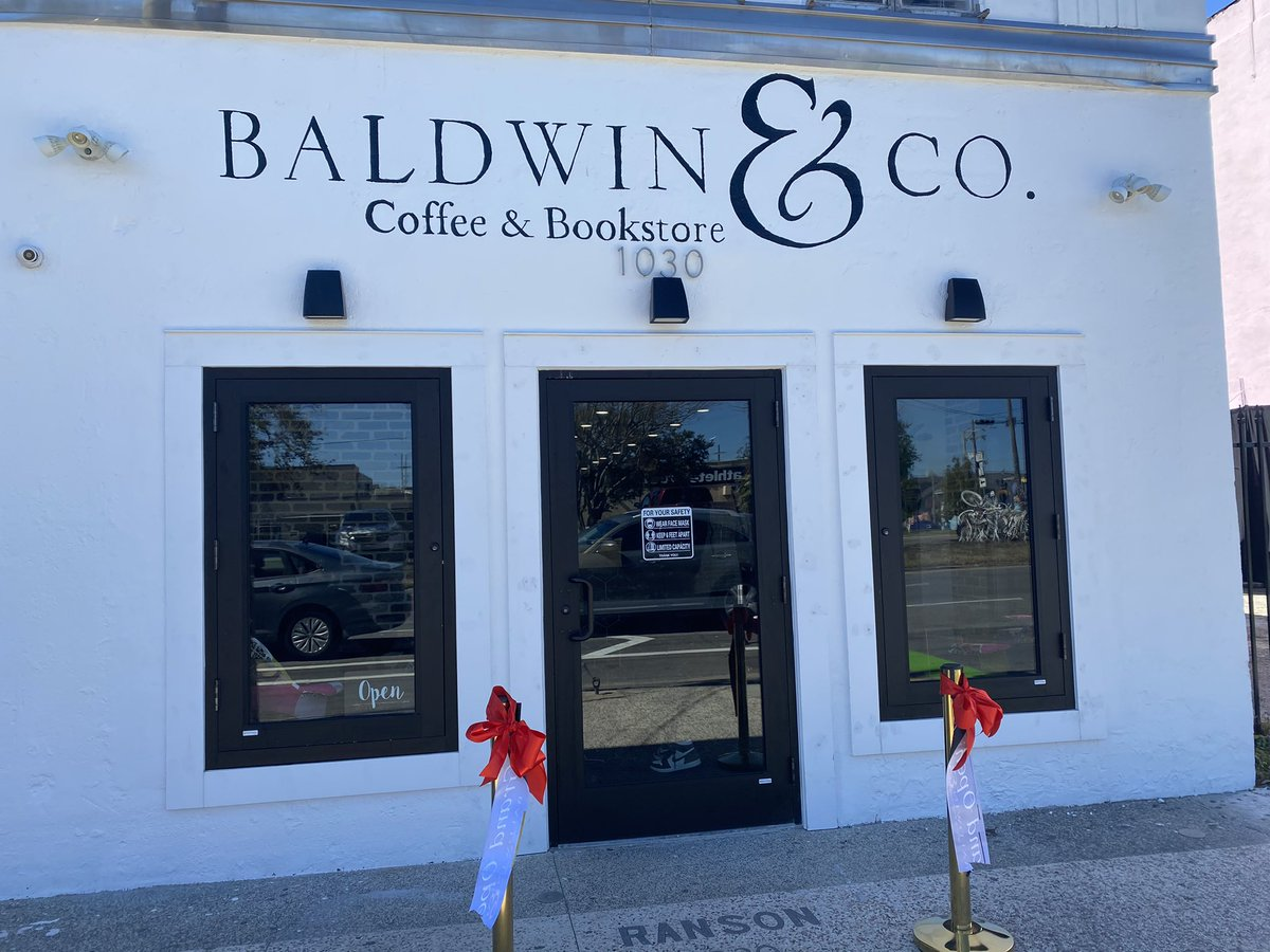 Baldwin & Co, a new Black-owned coffee & bookstore, opened today in New Orleans