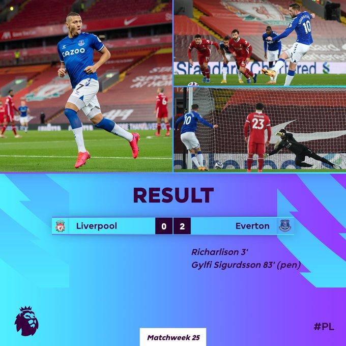 Hasil Liverpool vs Everton