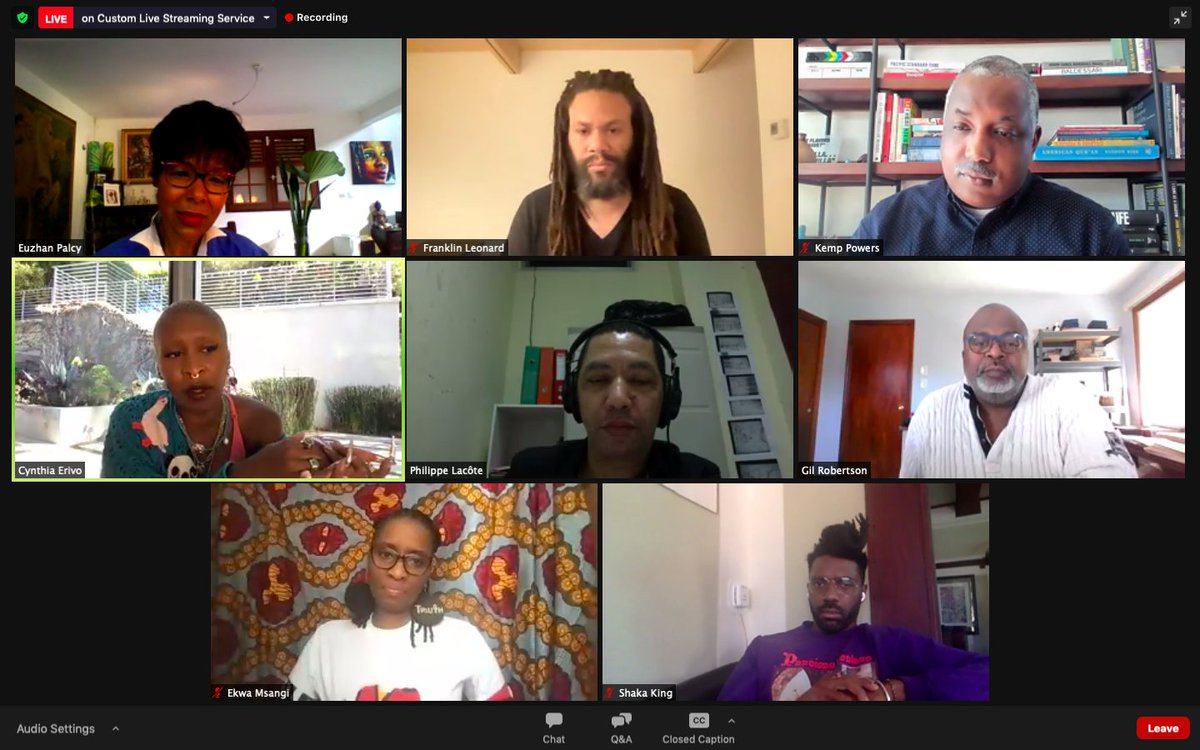 Happening now! Amazing panel discussion on Black Identity Through Cinema with Cynthia Erivo, Shaka King, Philippe Lacôte @franklinleonard @ekwapics @EuzhanPalcy @Powerkeni moderated by @gilrobertson co-presented with @theaafca