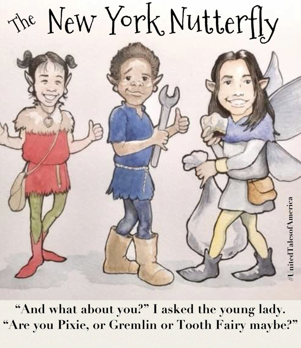 Another gem from Michael Roberts Illustrations - with @TimVMurphy narrating, The Nutterfly is shaping up to be a #VerySpecialStory  in #NewYork  #celebratingamerica #UnitedStates #unitedtales  #celebratingdiversity #embracingchange #everykindofpeople