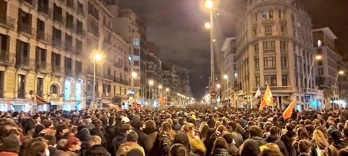 Spanien Proteste Tag sieben