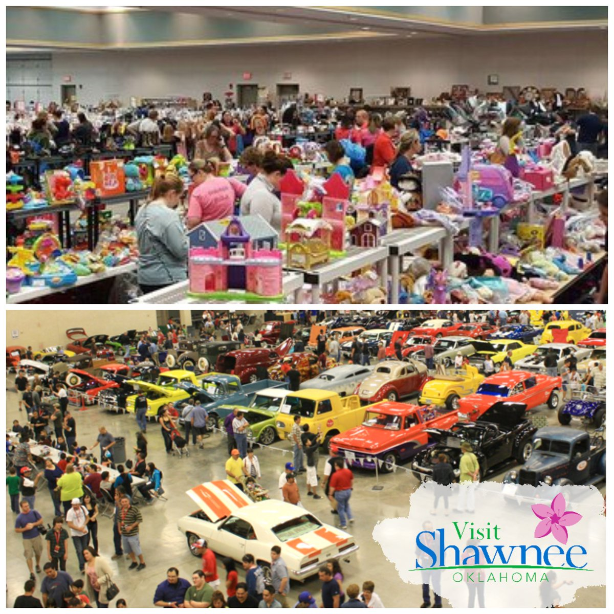 In two weeks, #OKHereWeGo get your shopping on with the Monkey Business Consignment Sale and Car Swap Meet. Lots of other events that weekend!   Make your plans here 👉 https://t.co/hAB1KWyQYJ then book your room and make a weekend of it in #ShawneeOK. https://t.co/L8SIU3ssS5