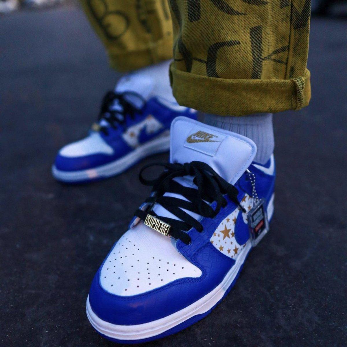 On-Foot Look: Supreme x Nike SB Dunk Low