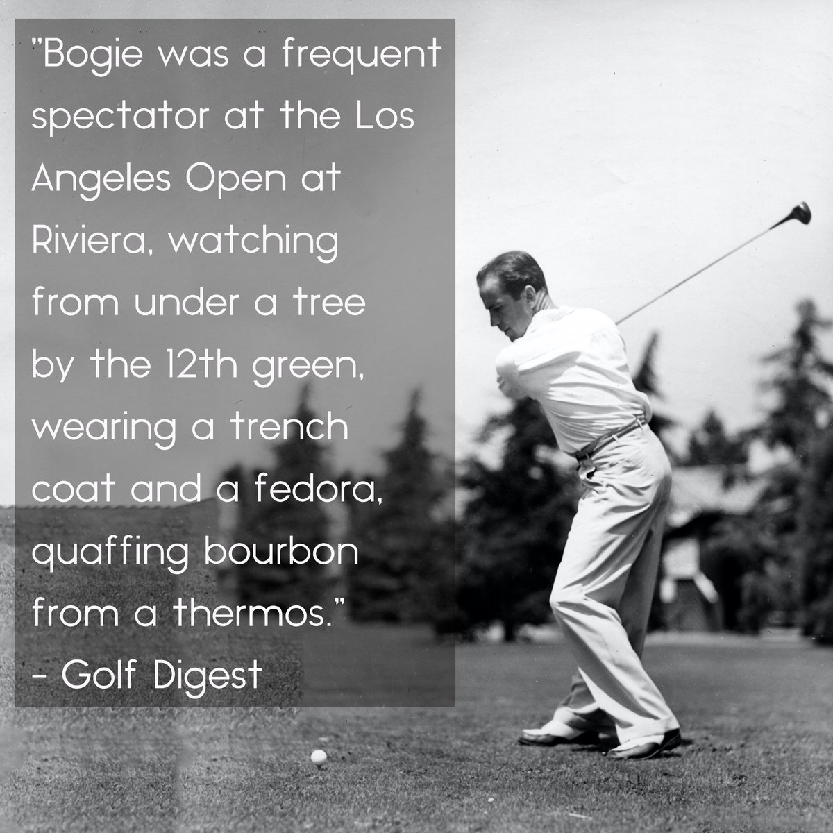 Every time the @PGATOUR plays @thegenesisinv at the Riviera Country Club in Los Angeles, we remember this great @GolfDigest quote about Humphrey Bogart ... 🤣🥃🏌🏼♂️ https://t.co/TxUp4fOKPj