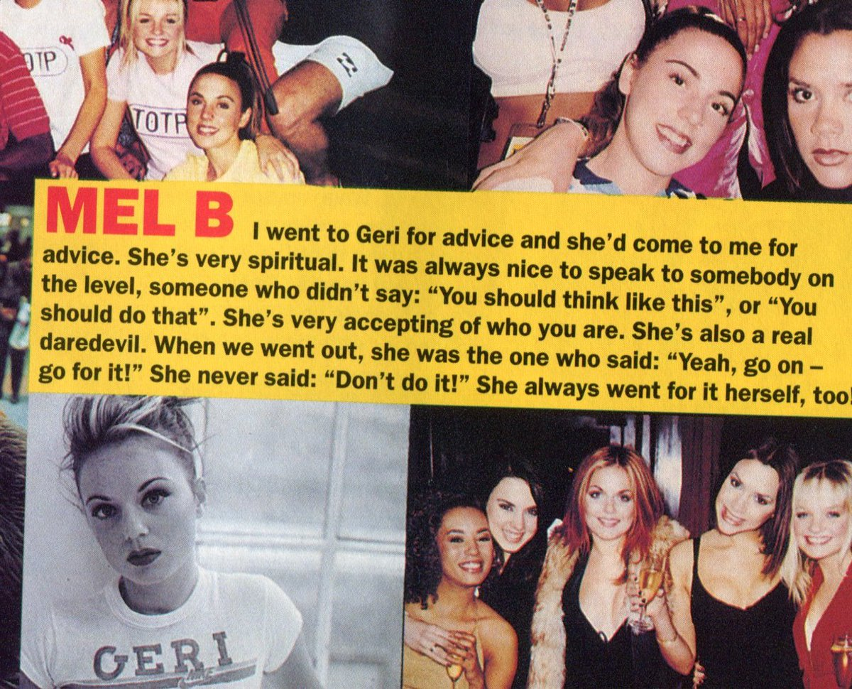 From the sixth issue of the official Spice magazine, farewelling Geri.
