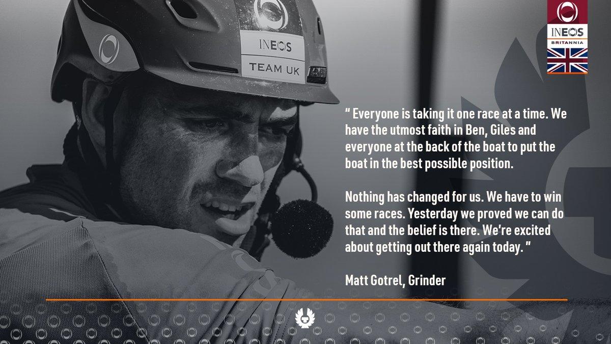 Grinder @MattGotrel is taking it one race at a time in the #PRADACupFinal. Lets go! #ChallengeofaLifetime