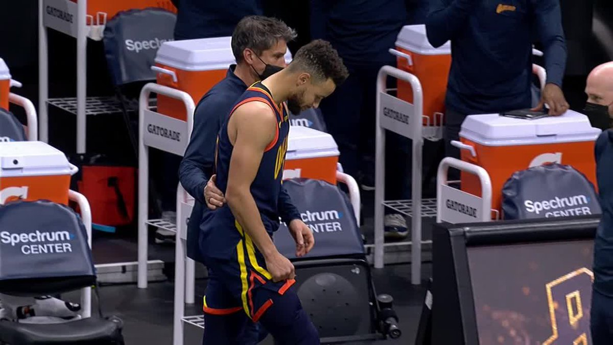 Stephen Curry left tonights game right before tip-off
