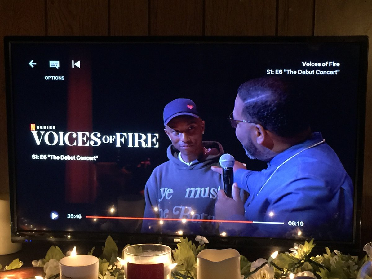 🎵🎶🎵Debut single #HitTheRefresh is available now! @voicesoffire Watch this docu-series @netflix created by Executive Producer @Pharrell and his Uncle Bishop Ezekiel Williams Together To create this Phenomenal Gospel Choir🙌🏽💯