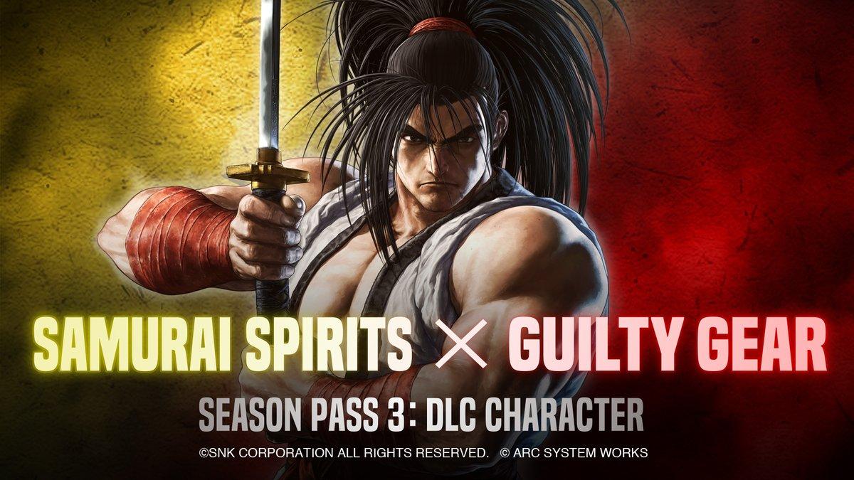 【SAMURAI SPIRITS】 あの『GUILTY GEAR』との夢のコラボが実現!   シーズンパス3のDLCキャラクター第4弾に、人気格闘ゲームシリーズ『GUILTY GEAR』のキャラクターの参戦が決定!参戦キャラクターや配信時期は改めてご案内します。続報をお楽しみに!  #SNK #サムスピ #ギルティギア #GUILTYGEAR