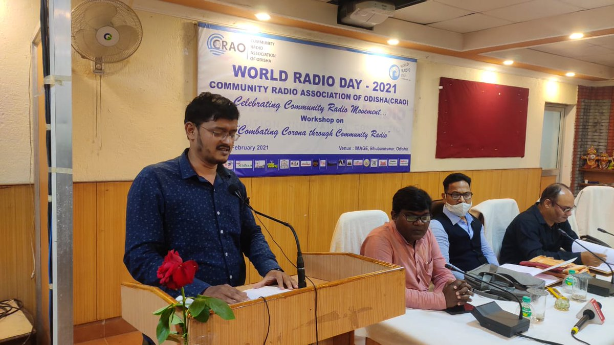 On #WorldRadioDay I presented about our community radio #CovidAwareness of @RadioBulbul with more than 20 episodes that I had prepared. It was done in association with #SalaamJeevan.  #CR4Change #COVID19 #awareness  @niyazlive @Amar4Odisha