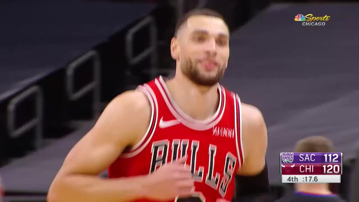 Zach LaVine tonight: — 38 PTS — 15-20 FG — 3-6 3 PT — Dagger