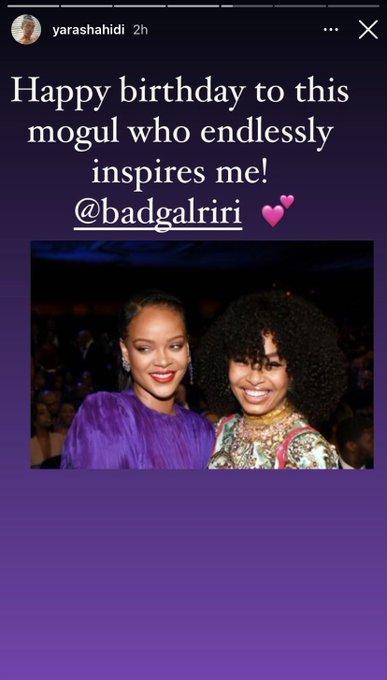 Kehlani, Yara Shahidi, Wale, & model Adwoa Aboah wish Rihanna a happy birthday.