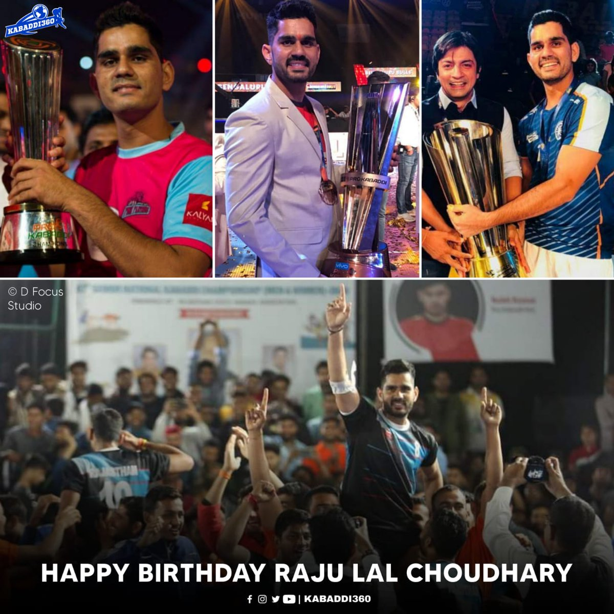 🏆🏆 Part of PKL winning teams twice (S1 & S6) 🥇 Kabaddi Masters & 🥉 2018 Asian Games for India 🇮🇳 🥉 Captained Rajasthan to bronze in 67th Sr. Nationals  Happy birthday Raju Lal Choudhary 🥳  #RajuLalChoudhary #HappyBirthday #Kabaddi360