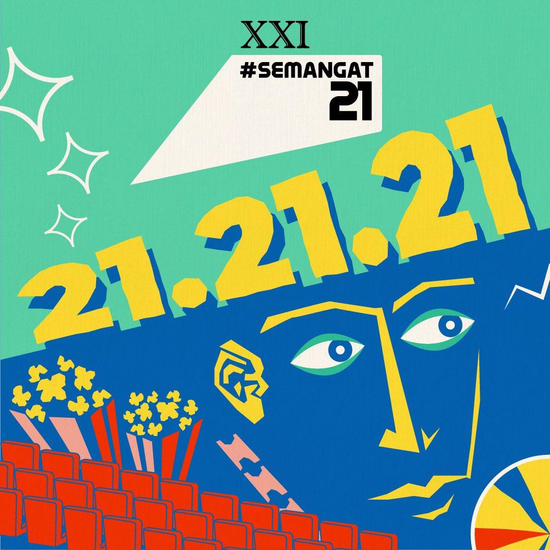 21.21.21  Tanggal 21 tiap bulannya akan jadi hari yang SPESIAL buat kami dan buat Sobat XXI tentunya. Terlebih tanggal 21 jam 21.00 WIB, ada 21 KEJUTAN PALING ASIK yang bisa kalian dapatkan lewat aplikasi XXI.