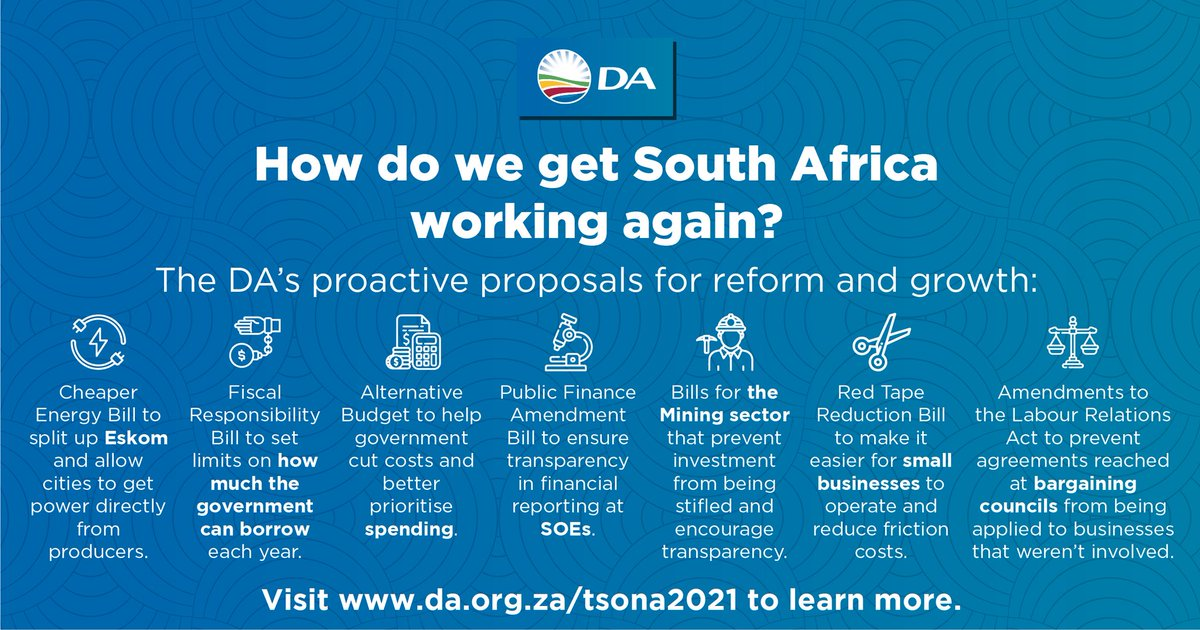 Clearly  @Our_DA has the #DABlueprint to bring about economic reforms in South Africa and restore growth.