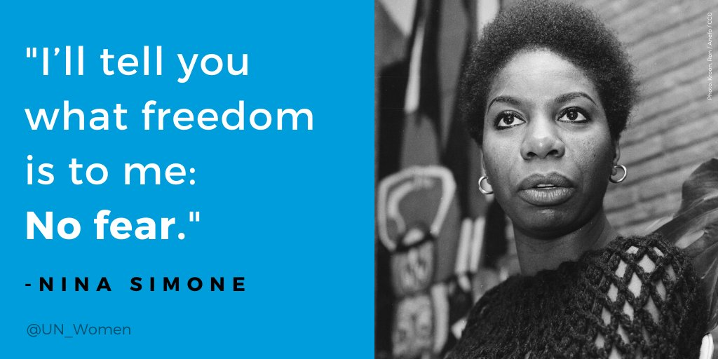 Today we remember Nina Simone, born #OnThisDay in 1933, who used the power of music to inspire and speak up for equal rights.
