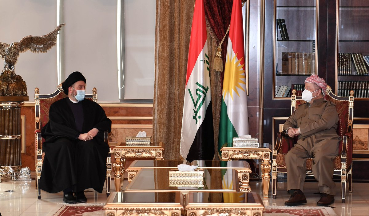 Pleased to receive @Ammar_Alhakeem today at my office at the Barzani HQ where we discussed the latest developments in Iraq and spoke of the outstanding issues between Baghdad and Erbil https://t.co/gH3Md2h4UV