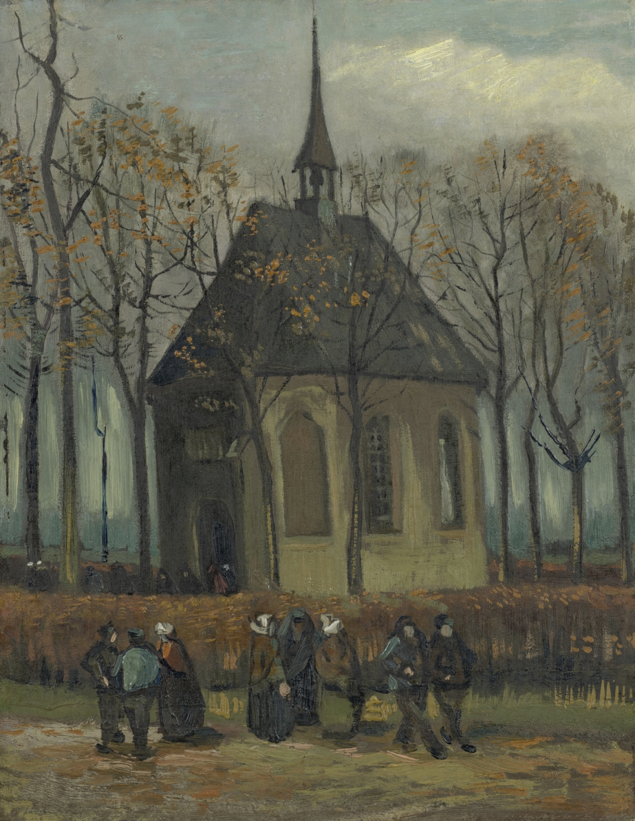 In 1884, Van Gogh painted the Reformed Church in Nuenen, where his father was a minister. Vincent had moved back in with his parents for a while, and painted the church to cheer his mother up. She was confined to bed after breaking her leg. https://t.co/DtJu2X4bB8