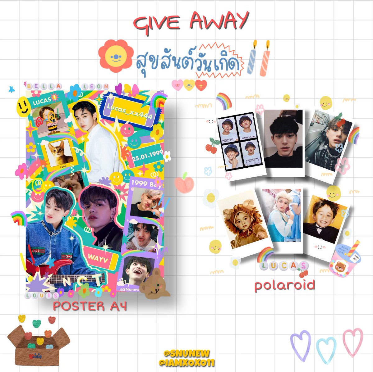 "ꕀ please retweet 。♡ 🌻 GIVE AWAY  🌻 "" HAPPY LUCAS DAY 🎂 "" 📍at Eattention Please  (Round 1)  🗓 07.03.2021  🦁 Poster A4 🦁Polaroid:  #ShineBrightLikeLUCAS2021 #theillumerence_LC #HappyLucasDay #LUCAS"