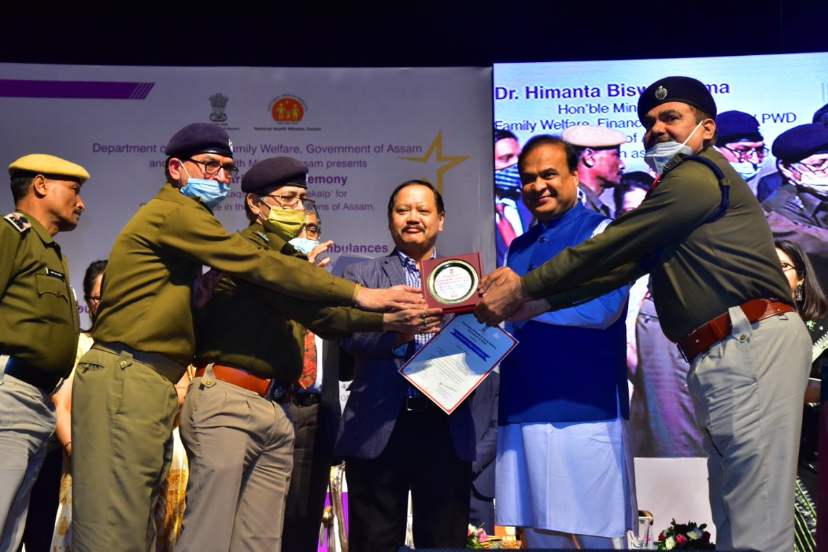 Thank you Hon HM Shri @himantabiswa & @nhm_assam for the appreciation and acknowledgement our selfless service during #Covid19 Pandemic. Today, wed also like to remember all those brave #covidwarriors of Assam Police, who laid down their lives while serving the people.