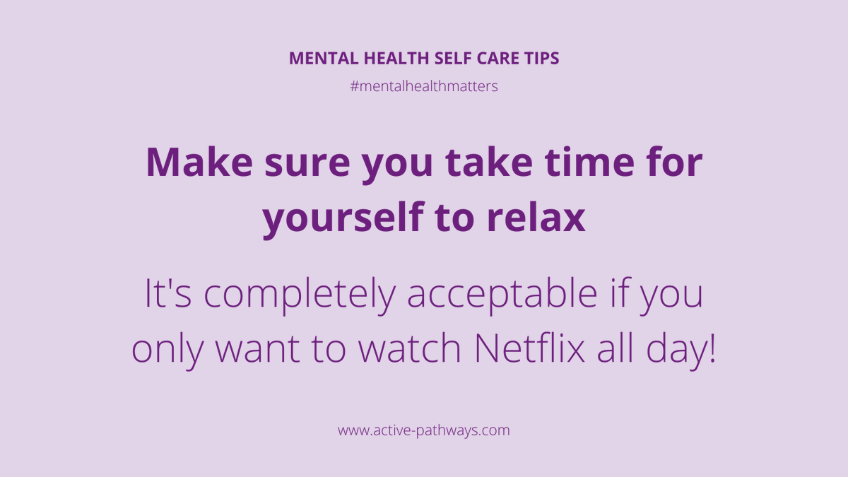 It's completely acceptable if you only want to watch Netflix all day! Make sure you take time for yourself to relax 📺 #occupationaltherapy #rehabilitation #rehab #mentalhealth #mentalhealthmatters #mentalhealthadvocate #dailymotivation #mentalhealthrecovery #keyworkers #recovery