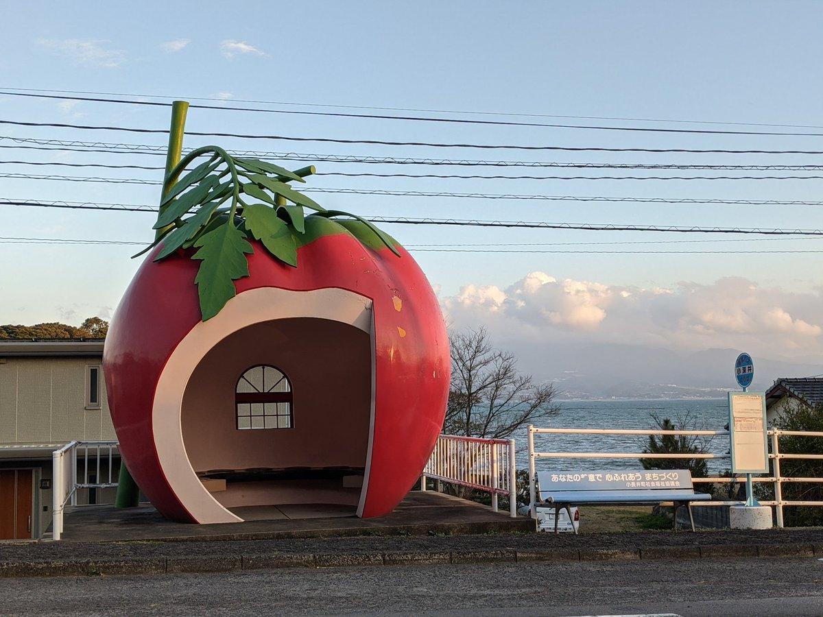 長崎のバス停がエモかわいい。
