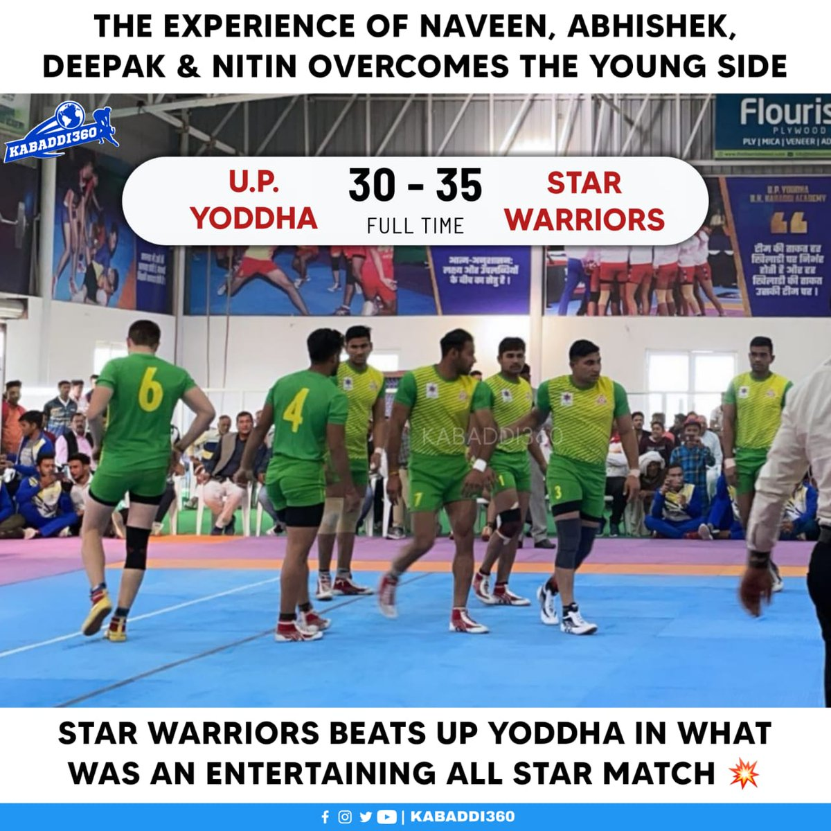 While UP Yoddha fought hard, Star Warriors proved their experience with a fantastic win in the All Star Match 🎉   #AllStarMatch #UPYoddha #StarWarriors #Kabaddi360