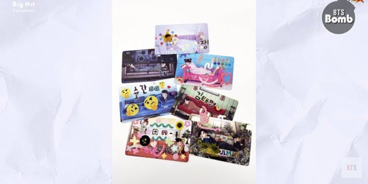 [#방탄밤]  It's time to decorate BE photo cards with BTS! #태어나서_포꾸는_처음이라✨ #함께_포꾸해요_아미  🔗  ㅤㅤ
