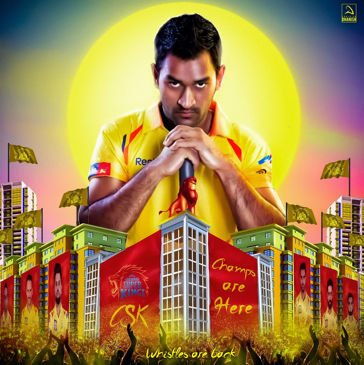 Here is the special CDP to celebrate our Men in Yellows #CSK 💛  Design by : @ThalaivaDHANISH 👌  #WhistlePodu #Yellove #Anbuden  @ChennaiIPL #Master