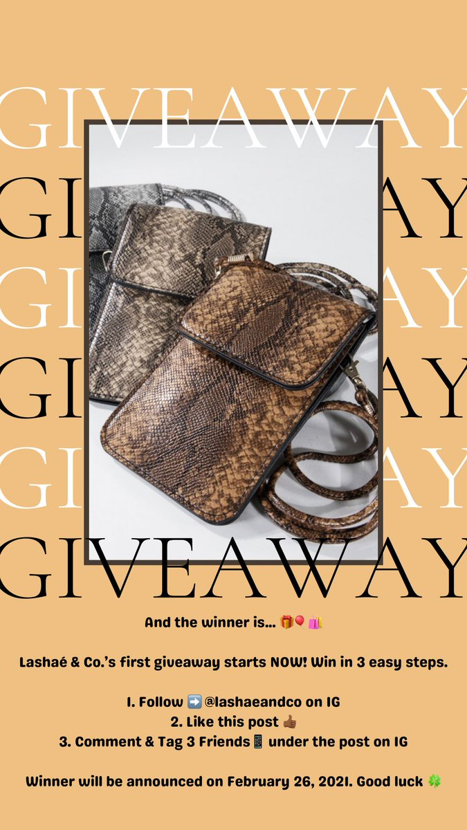 Giveaway 💟 Giveaway 💟 Giveaway 💟 Ends on February 26, 2021 @ 9am. Must be following @lashaeandco on IG. Follow the directions in the post. #freegiveaway #Giveaway #BuyBlack #explorepage #freestufffriday #launchday #ComingSoon #lashaeandco #bags #shoppingonline #boutique #free