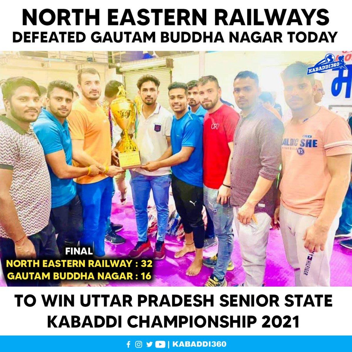 The likes of Sunil Kumar, Parvesh Bhainswal & Amit Nagar featured for the winning NER team 🎉 Congratulations!   #UttarPradeshKabaddi #StateChampionships #KabaddiResults #Kabaddi360