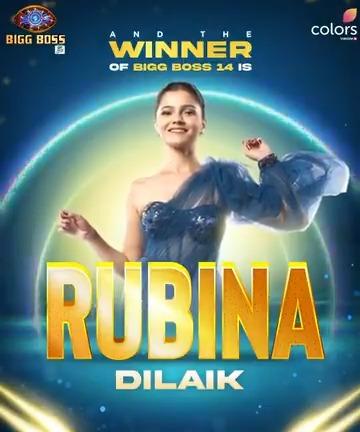 Congratulations to @RubiDilaik! ✨🎉🎊 Audience ka dil jeet kar aakhirkaar karli hai inhone #BiggBoss14 ki trophy haasil! How happy are you #Rubiholics?  @BeingSalmanKhan #BB14 #BB14GrandFinale #BiggBoss14Finale #GrandFinaleBB14