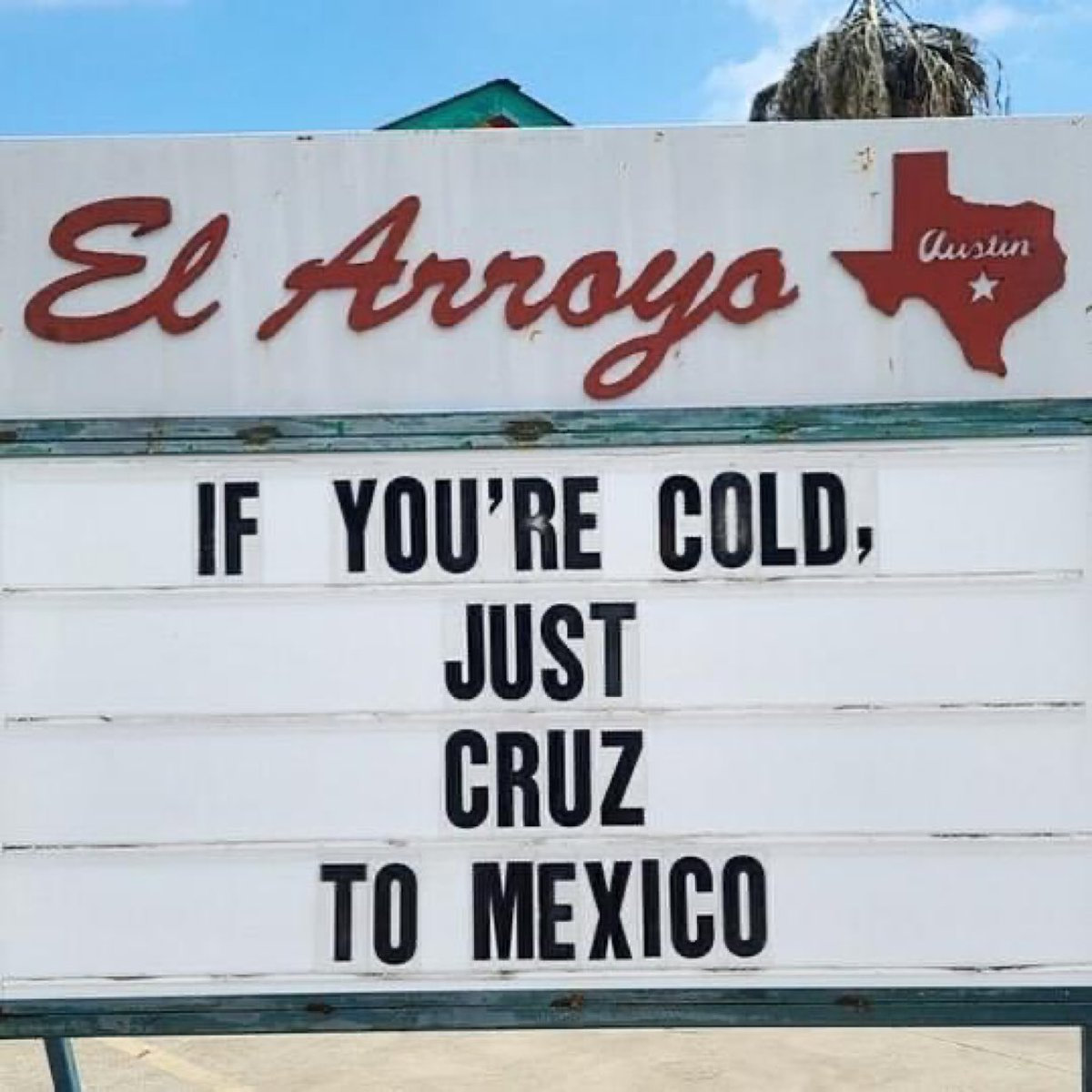 @SenTedCruz Nice to show up AFTER the snow melted. I will leave this here. #TedCruzFliesToCancunWhileHoustonFreezes  #TedCruzisADisgrace https://t.co/8yjVQCE7cr