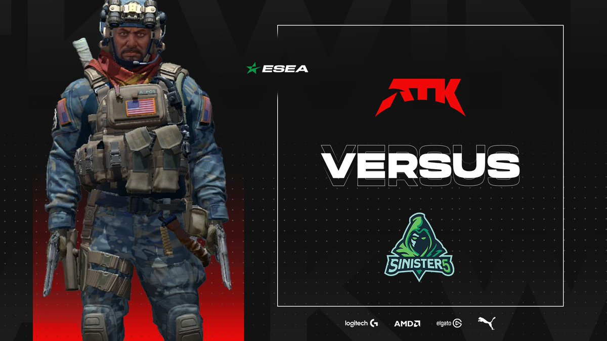 ATK_Zone - Sunday = Game Day 🔥   Good luck to all our teams competing in their matches tonight!   Here's our highlight match up for today:  ▶️ ATK #CSGO vs @Sinister5_SA  ⏰ 19:00 SAST 📺    #PlaySeriously