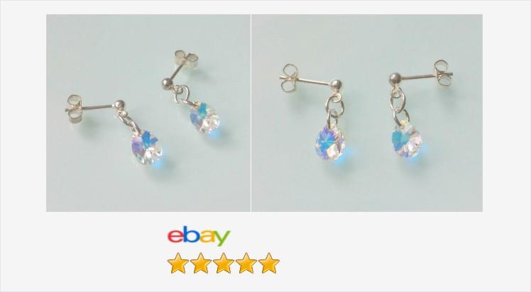 Brand New Sterling Silver & Swarovski Crystal Ab Mini Pear Drop Stud Earrings | eBay #sterlingsilver #swarovski #crystal #mini #peardrop #earrings #studs #handmade #jewllery #gifts #giftideas #jewelry #accessories #stayathome #onlineshopping #uksmallbiz ebay.co.uk/itm/3130446081…