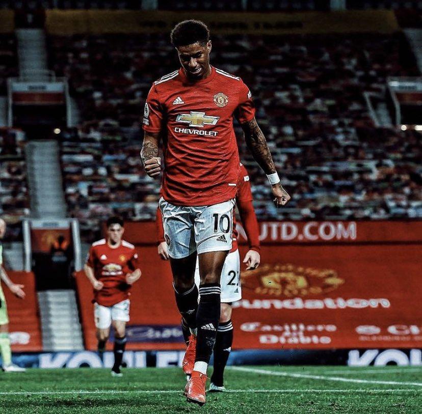 FIM DE JOGO!   O Manchester United vence o Newcastle em Old Trafford por 3-1 e retoma a vice-liderança da Premier League.  Marcus fez um gol e sofreu o pênalti convertido por Bruno Fernandes.   O próximo confronto do United será a volta contra a Real Sociedad 🔥 https://t.co/EIvcehk5G7