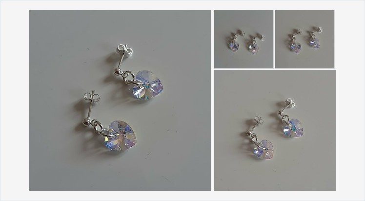 Sterling Silver & 10mm Swarovski Crystal Ab Heart Stud Earrings | Bluediamonds Gifts #sterlingsilver #swarovski #crystal #heart #stud #earrings #handmade #jewellery #gifts #giftideas #giftsforher #bling #beauty #sparkling #jewelry #accessories #fashion bluediamondsgiftshop.co.uk/product-page/9…