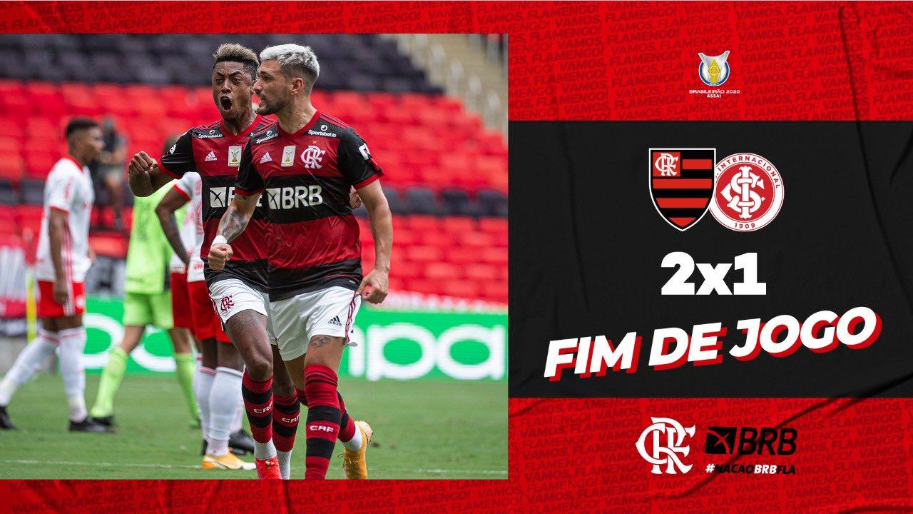 Veja como fica a tabela do Brasileirão após a vitória do Flamengo no Maracanã