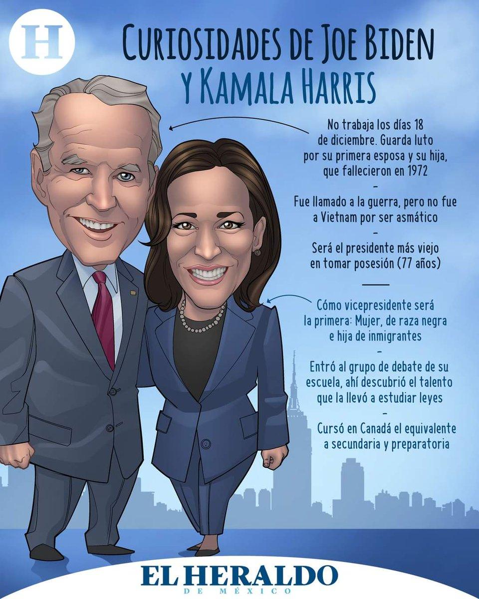 Inicia la era Biden-Harris en la Casa Blanca y te traemos algunos datos curiosos que quizá no conocías 🇺🇸   #InaugurationDay  #DonaldJTrump  #JoeBiden  #Washington #KamalaHarris