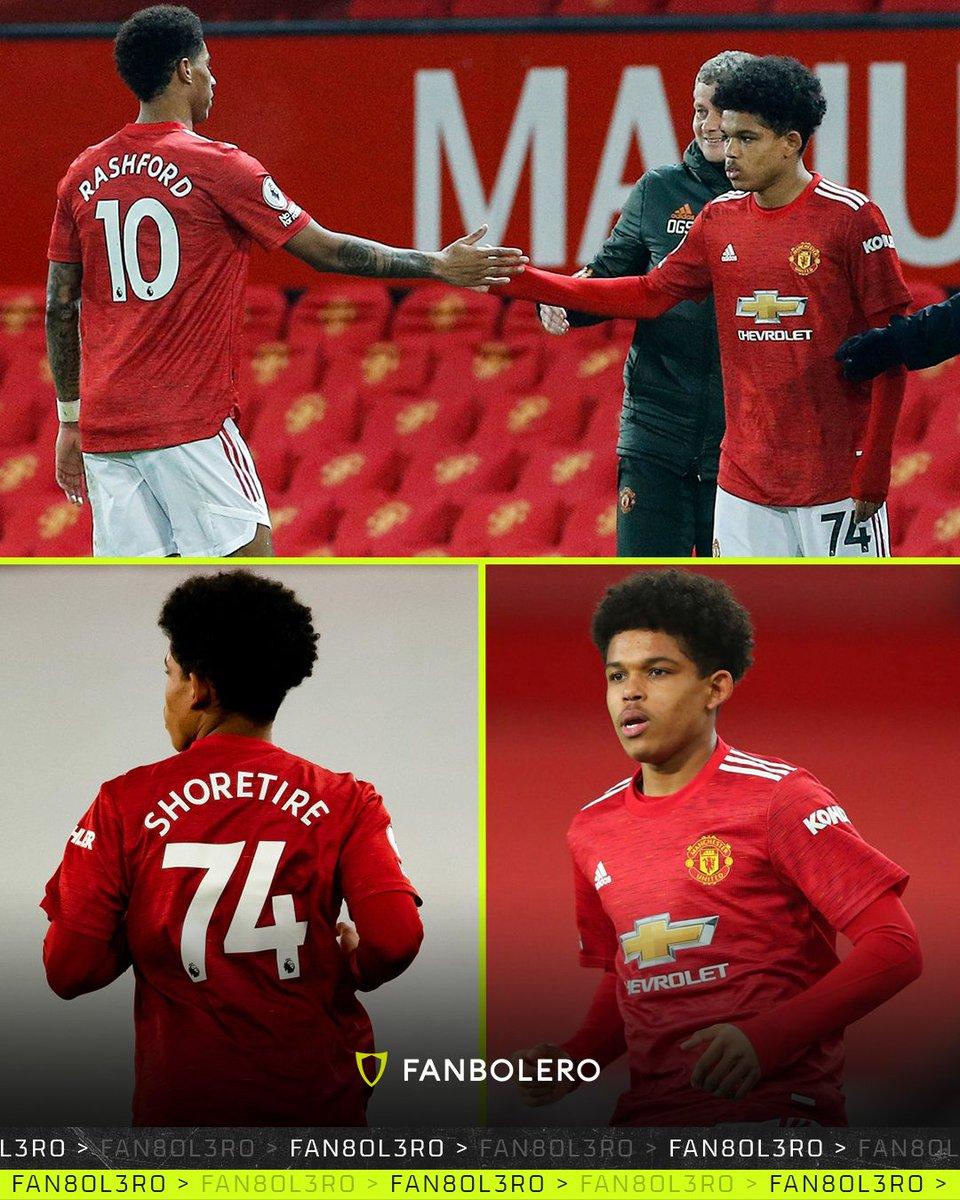 ¿TÚ QUÉ HACÍAS A LOS 17 AÑOS?  Él es Shola Shoretire, fue su primera convocatoria con el Manchester United y hoy hizo su debut contra el Newcastle, ¡el joven inglés se convirtió en el canterano No. 240 que juega para el primer equipo de los 'Red Devils'! 🤯👹⚽️🏴 #SholaShoretire https://t.co/7wzBHwEyZy