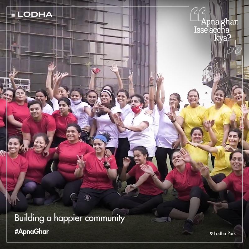 #ApnaGhar is the comfort cove where every day is a celebration. #BuildingABetterLife #LifeatLodha #LodhaPark #ShotAtPark #ShotAtLodha