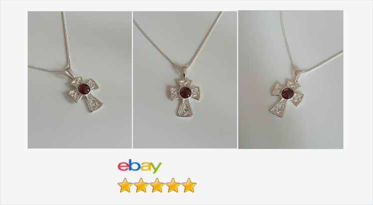 Brand New 925 Sterling Silver Celtic Cross with a Garnet Cabochon Necklace | eBay #sterlingsilver #garnet #cross #celtic #pendant #handmade #necklace #gifts #giftideas #giftsforher #giftsforhim #jewelry #religious #jewelrylover #beauty #accessories ebay.co.uk/itm/3131398712…