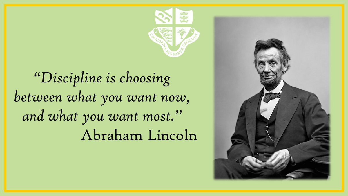 """""""Disciplineis choosing between what you want now, and what you want most."""" #AbrahamLincoln #quoteoftheday #selfcontrol #willpower"""