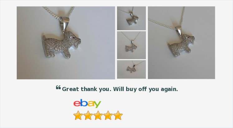 New 925 Sterling Silver and Cubic Zirconia Dog Pendant on an 18 chain - gift | eBay #sterlingsilver #cubiczirconia #dog #pendant #necklace #jewellery #finejewelry #gifts #giftideas #giftsforher #animals #doglover #jewelry #onlineshopping #uksmallbiz ebay.co.uk/itm/3129591141…