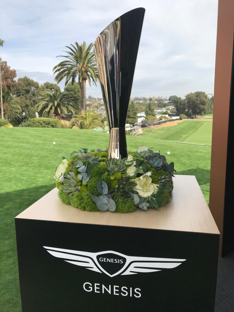 To the victor goes the spoils…and the really cool trophy. 😬 🏆 #ChampionshipSunday at the #GenesisInvitational. Who will raise this cup at the end of the day? ⛳️  #NateraSport  #StaminaPro #golf #golffitness #golfhealth #pgatour