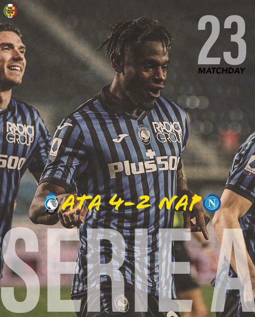 Atalanta soar into 𝐓𝐎𝐏 𝟒 with a back & forth but dominant performance vs Napoli 📈🔵⚫️  #AtalantaNapoli #AtalantaBC #Atalanta #LaDea #Zapata #Muriel #Gosens #Romero #ForzaDea #ForzaAtalanta #GoAtalantaGo #BergAMO #SSCNapoli #Napoli #Italia #Football #Soccer #SerieA #Calcio https://t.co/gAoSqiCmnk