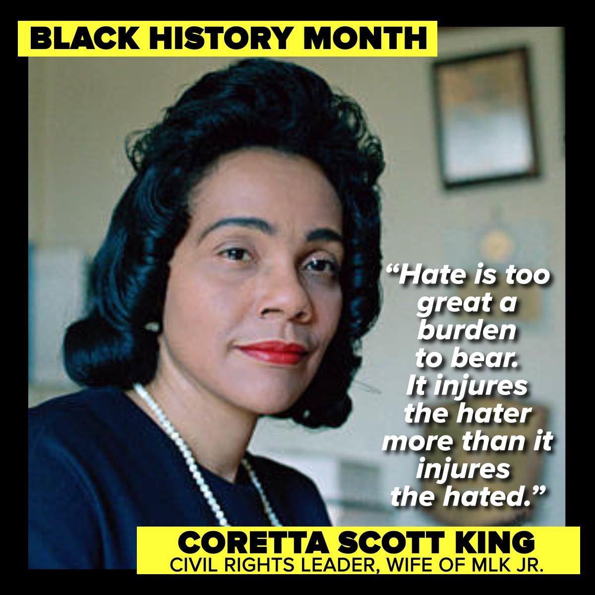 Black History 👥 is everyone's history. #BlackHistoryMatters 🖤 #CorettaScottKing #MartinLutherKingJr #BlackHistoryMonth 🧟🎈🧟♀️ #BlackHistory👣 #BlackHerStory