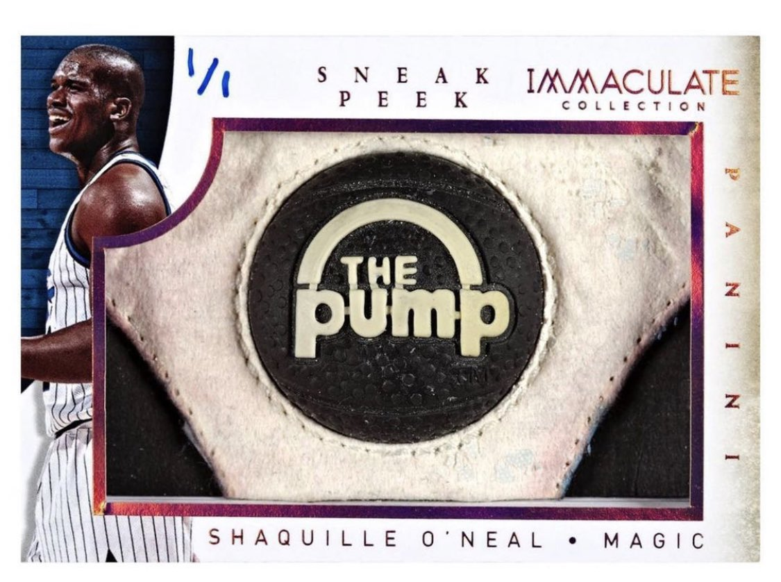 Is there a cooler game-used shoe card? A @SHAQ card featuring 'The Pump'  📷: @PaniniAmerica | @nicekicks