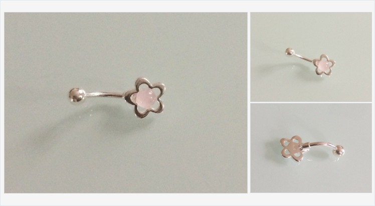 925 Sterling Silver & Surgical Steel Flower Belly Bar with a Rose Quartz | Bluediamonds Gifts #sterlingsilver #surgicalsteel #pink #rosequartz #flower #bellybar #navel #jewellery #bodyjewelry #piercings #gifts #handmade #jewelry #giftideas #giftsforher bluediamondsgiftshop.co.uk/product-page/9…