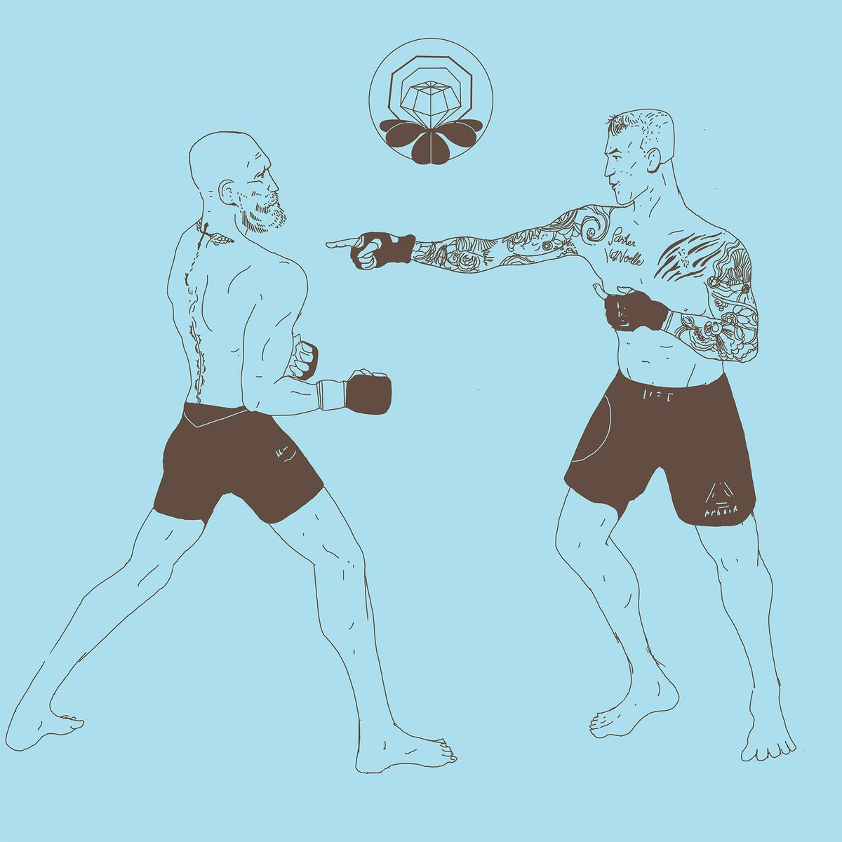 from #ufc257 the moment @DustinPoirier fully realizes he can beat #conor #art #mma  #illustration #ufc